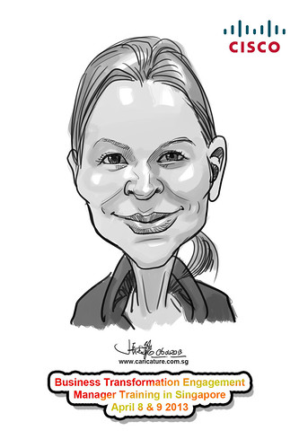 digital caricature for Cisco - 15