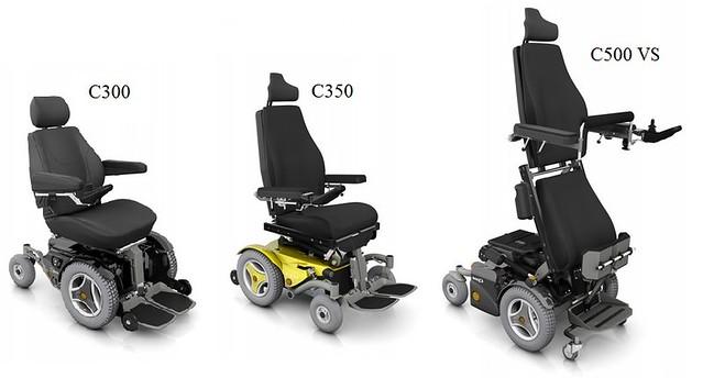 Permobil modelos: C300, C350 e C500 VS