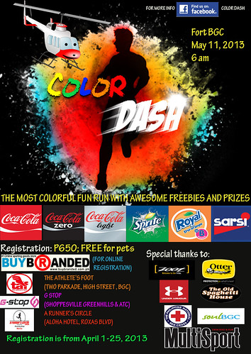the running enthusiast Color Dash poster