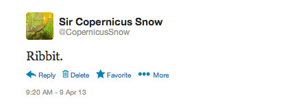 Copernicus' first tweet
