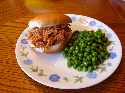 Slow Cooker BBQ Chicken Sandwich