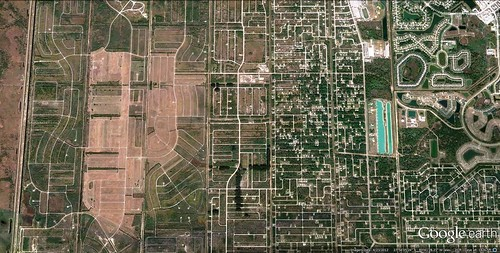 sprawl marches west from Florida's Palm Bay (via Google Earth)