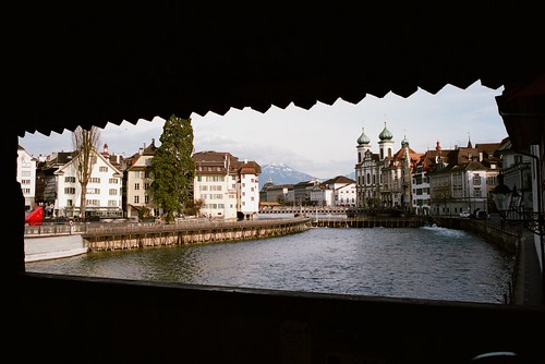 View from Chapel Bridge of Lucerne