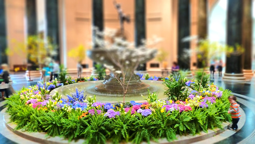 National Gallery Of Art Washington DC Mercury Fountain Court Tiltshift