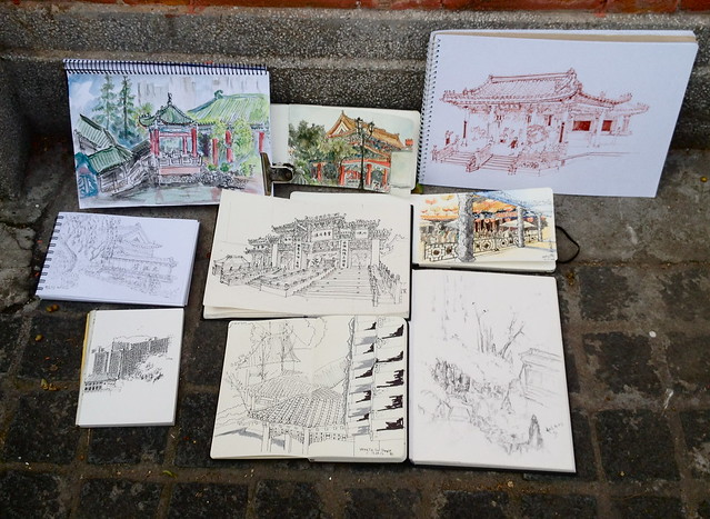 39th Sketchcrawl: Wong Tai Sin Temple, Hong Kong Results
