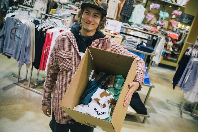 Tyler Bledsoe & a box full of socks!