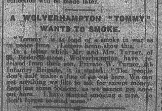 "A Wolverhampton ""Tommy"" Wants to Smoke"