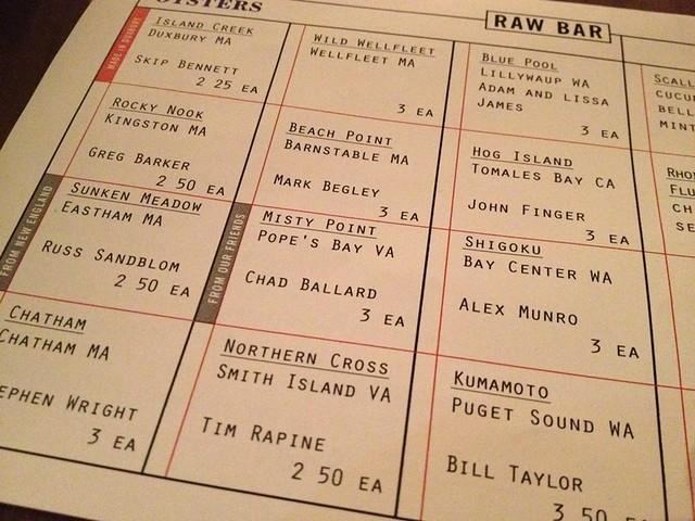 Island Creek Oyster Bar - Boston