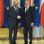 EP President Martin Schulz meets with Donald Tusk, Prime Minister of Poland