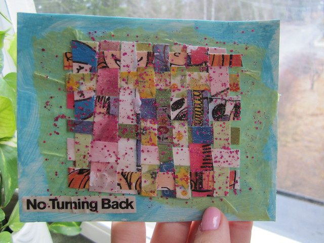 No turning back - postcard