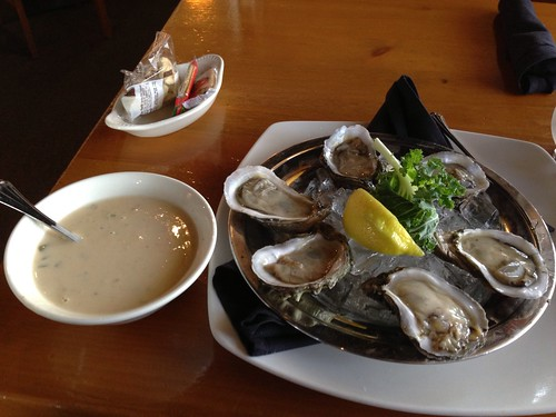 Crab soup and Chincoteague Salt oysters at Bill's Seafood