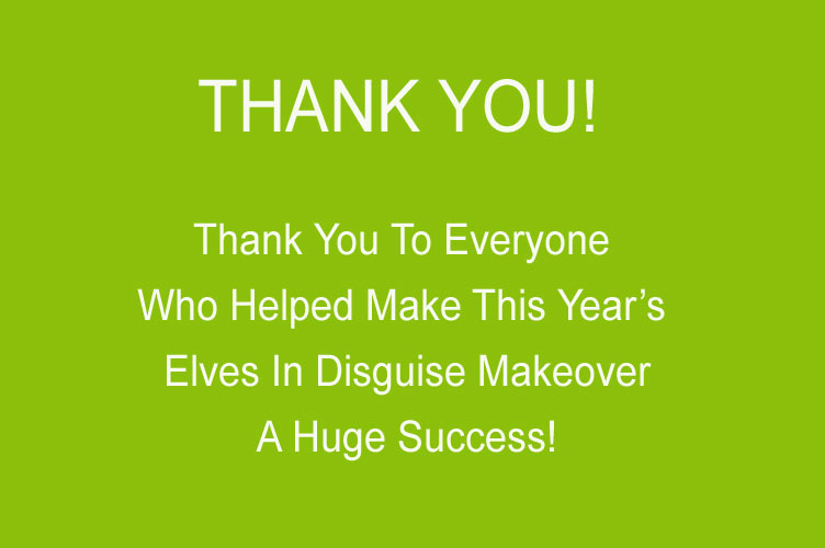 Elves in Disguise 2012 T-Shirt - Thank You Sponsors & Volunteers!
