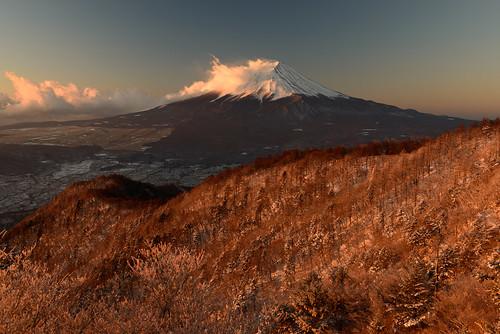 morning winter mountain snow fuji 日本 mitsutoge 山梨県 南都留郡
