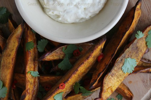 Sweet Potato Wedges with Lemongrass Creme Fraiche 2