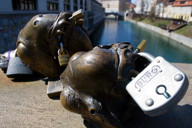 Locks of Love @ Butchers' Bridge | Ljubljana, Slovenia | packmeto.com