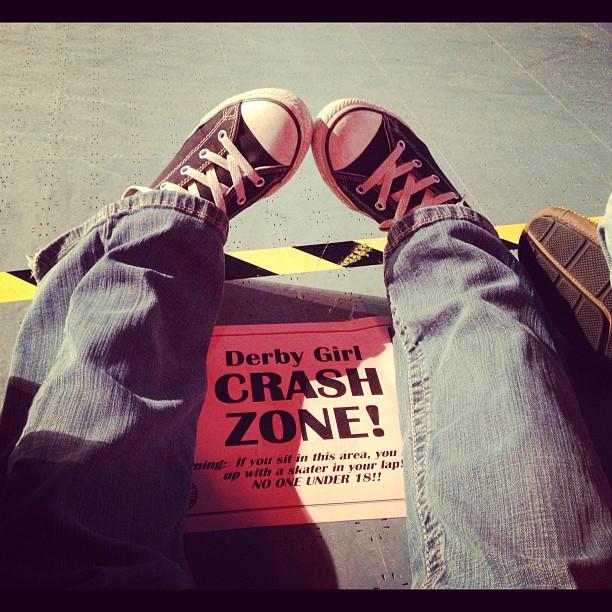 #InstaSize #crashzone #blackandyellow #uhoh #dangerzone #icandothis #houston #rollerderby