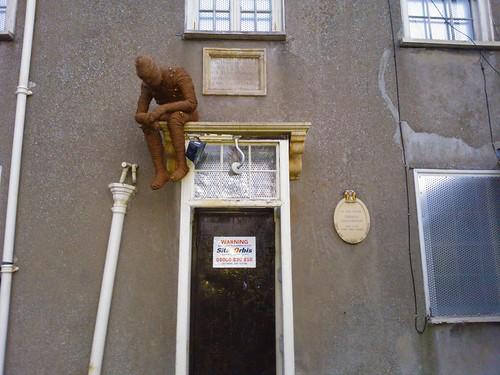 A man on a house