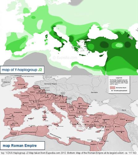 Y-DNA Haplogroup J2 M172 - Roman Empire