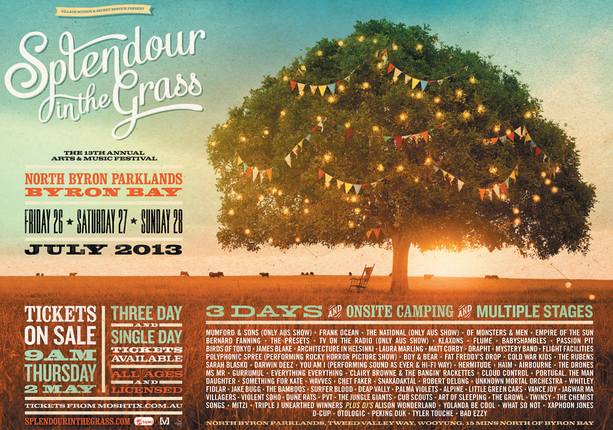 Splendour in the Grass 2013 artist lineup