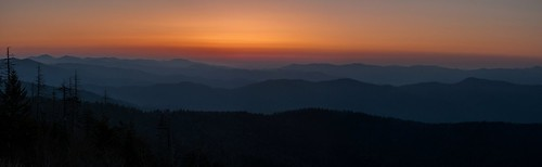 panorama mountains sunrise sony great dome smoky clingmans a700
