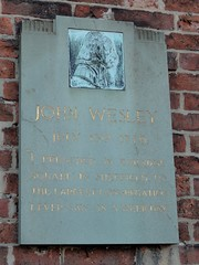 Photo of John Wesley stone plaque