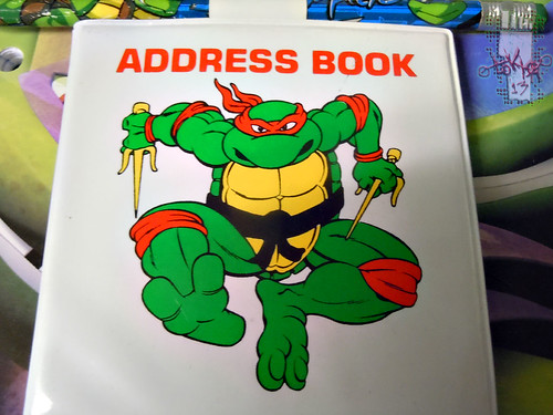 NOTEWORTHY :: TEENAGE MUTANT NINJA TURTLES 'MINIATURES'; ADDRESS BOOK ii (( 1990 ))