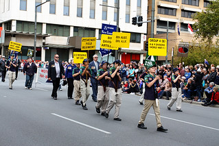 The Anzac Day march 2013
