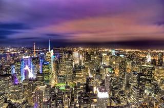 NYC & Colorful Sky