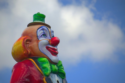 clown and clouds