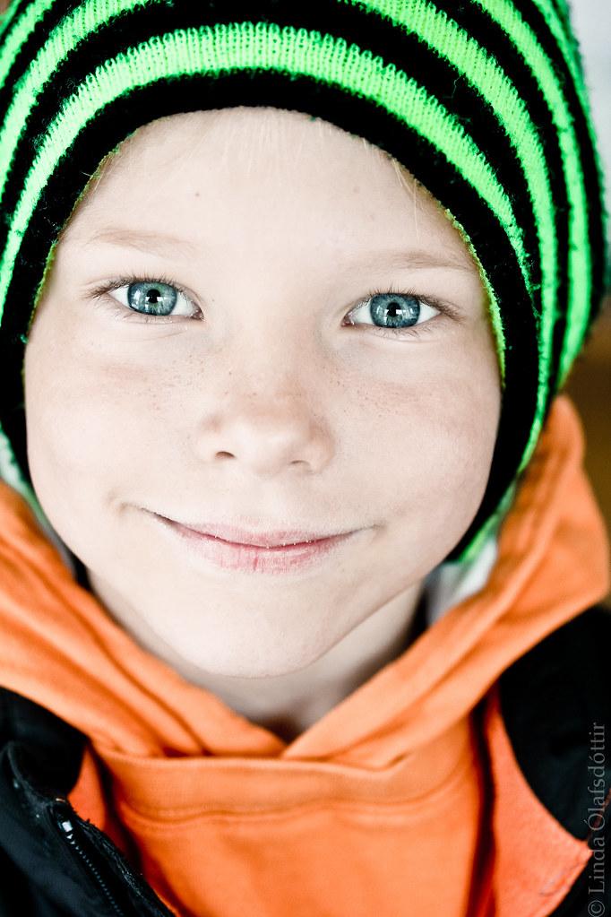 Portrait of an Icelandic kid