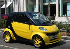 yellow custom+smart+car+body+kit