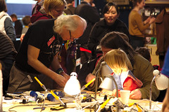 Maker Faire UK 2013 - Mitch Altman Soldering Workshop