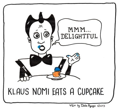 """Klaus Nomi Eats a Cupcake"""