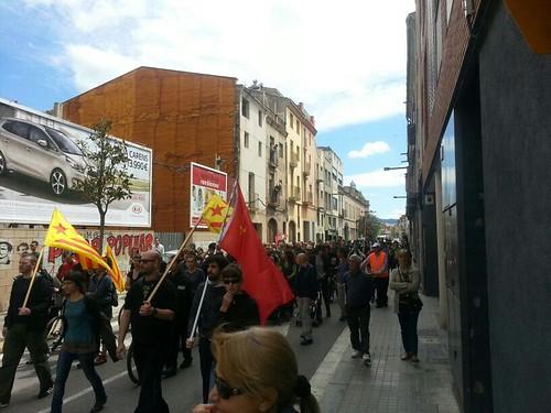 manifestació pels carrers d´igualada #1maig2013