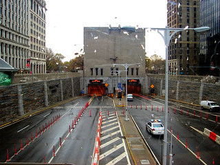 New York (View of the Hugh L.Carey/Brooklyn-Battery Tunnel)