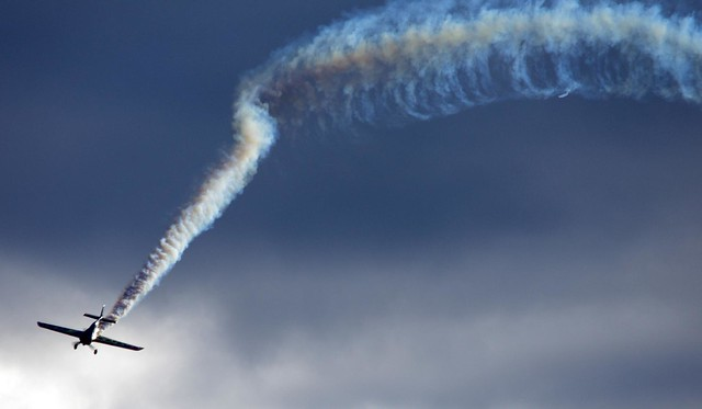 """Smoke Trail"" Matt Hall Racing-  Wings Over Illawarra airshow"
