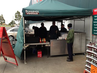Bunnings Sausage Sizzle Sandown-4-5-2013