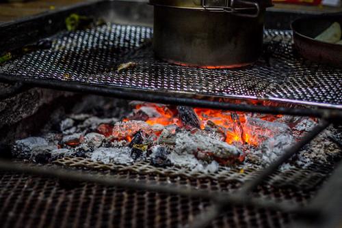 BBQ at Tsukigata Kairaku Campground (Tsukigata Town, Hokkaido, Japan)