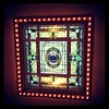 The skylight in the lobby of the Capital Hotel...