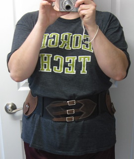 Front view of finished c-belt