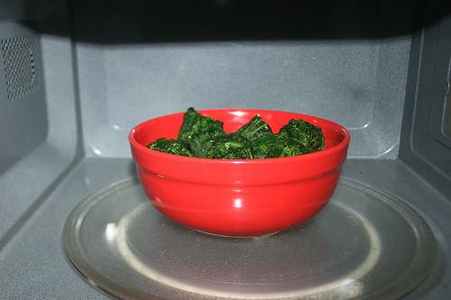 34 - Spinat auftauen / Defrost spinach