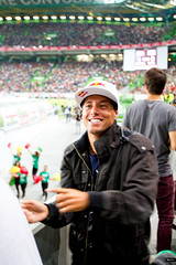 Adriano De Souza is a big-time soccer fan and jumped at the opportunity to see the World Cup qualifying match in Lisbon.