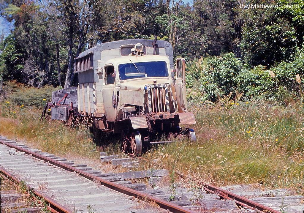Mamaku tram railcar Jan 1974