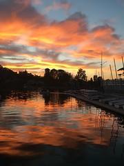 Colorful Sunset at Westlake Village