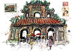 Temple gate Hue Vietnam