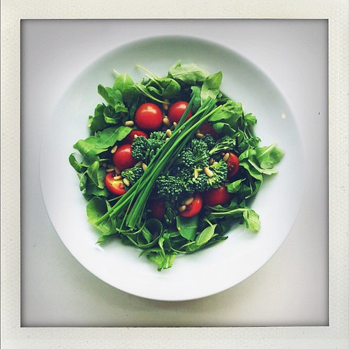Tomatoes, broccoli, rocket (arugula) by Salad Pride