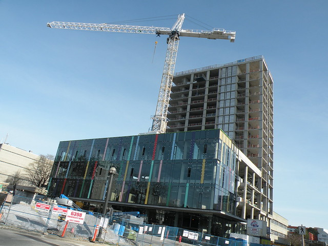Construction at Ponderosa Commons, UBC. By BlueAndWhiteArmy