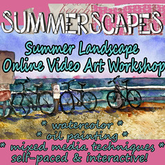 online art workshop landscape painting