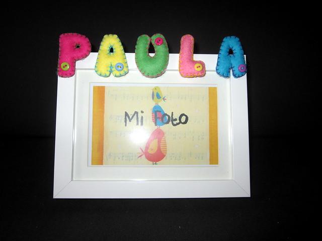 Marco de fotos fieltro - ChikiPol - Paula