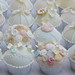 Vintage button and Lace wedding cupcakes by Hilary Rose Cupcakes